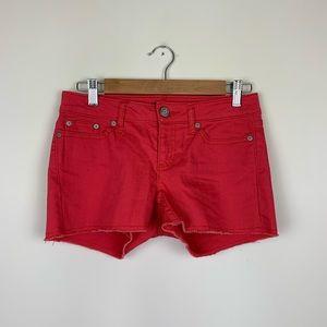 Gap Hadley Watermelon Red Cutoff Jean Shorts Denim